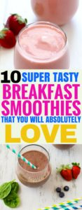 These amazing breakfast smoothies are the best! I'm so happy I found those great healthy smoothie recipies. Definetely pinning this for later!