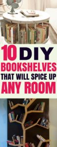 These amazing diy bookshelves will add charater to any room. Click through to the post for some great diy bookshelf inspiration