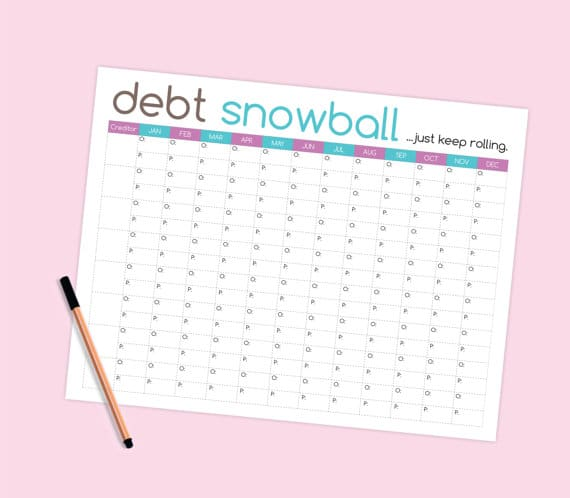 photo about Debt Tracker Printable named Financial debt Payoff Printables: 10 Printables Toward Prepare Your