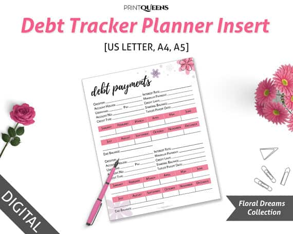 picture regarding Debt Payoff Printable known as Personal debt Payoff Printables: 10 Printables In direction of Arrange Your