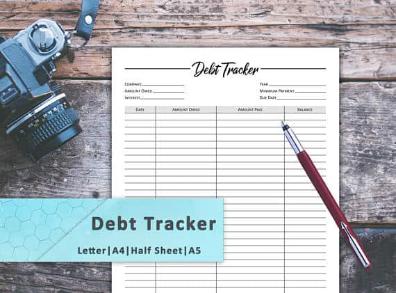 10 debt payoff printables you need for organizing your finances