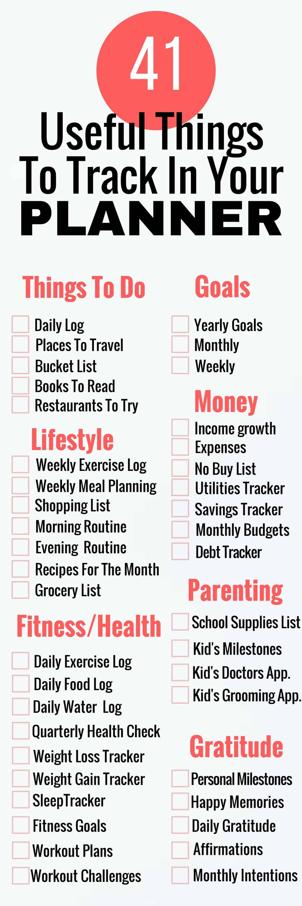 planner list ideas for the planner obsessed - meraadi