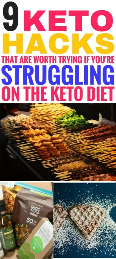 These keto hacks are THE BEST! I'm so glad I found these amazing keto diet tips and tricks to help me on my weight loss journey. Now I can stop struggling on the ketogenic diet by following these tips and ideas. Definitely pinning this for later! #keto #ketodiet #ketogenic #ketogenicdiet