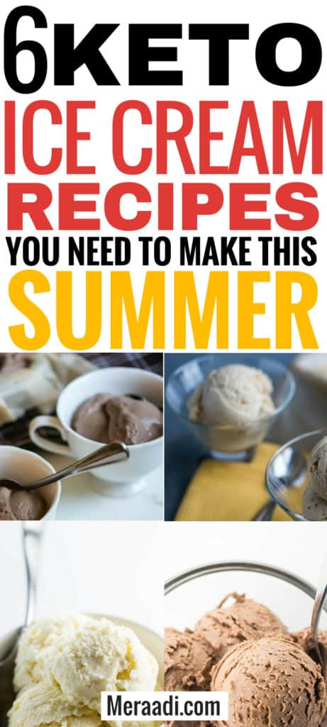 These easy keto ice cream recipes are THE BEST! I'm so glad I found these delicious keto recipes. Now I can enjoy sugar-free keto ice creams and keto desserts and keep losing weight on the ketogenic diet! Definitely pinning this for later! #lowcarb #keto #ketogenic