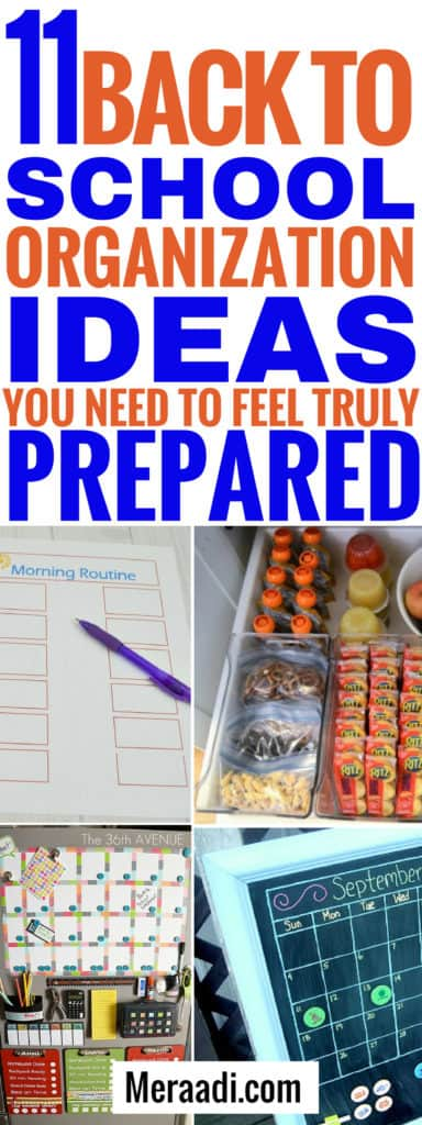 Back to school organisation ideas you need to know to be prepared for school. #school #backtoschool #organization