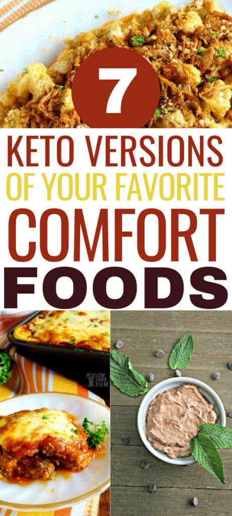 These keto comfort food recipes are THE BEST! I'm so glad I found these tasty keto low carb recipes to replace all my favorite comfort foods. Now I can really enjoy the keto diet and lose weight! Definitely pinning this for later! #ketodiet #keto #ketogenicdiet #lowcarb #ketorecipes #recipes #comfortfood #comfortfoodrecipes