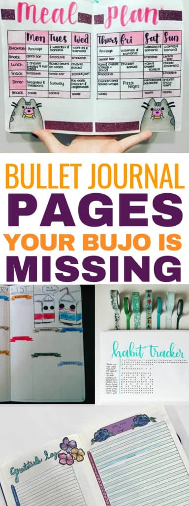 These are 7 bullet journal pages that are missing from your bujo. These are some great bullet journal page ideas to help you be more productive! #bulletjournal #bujo