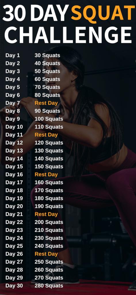 30 Day Squat Challenge To Transform Your Butt - Meraadi