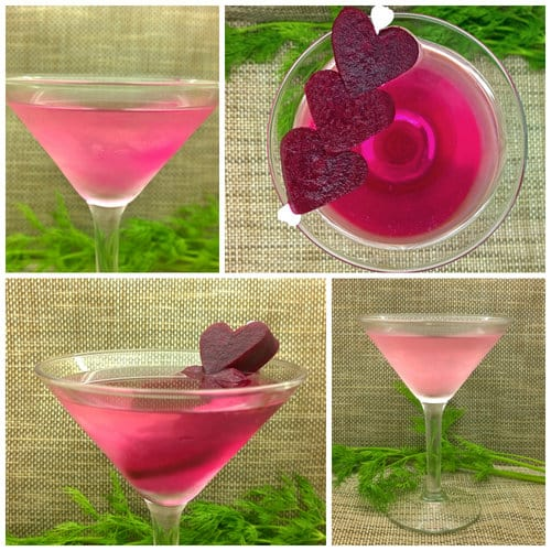 Keto Pretty in Pink Cocktail: Pickled Beet Dirty Martini