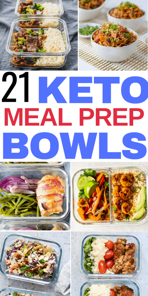 21 keto meal prep bowls that are great for healthy eating and weight loss! I'm so glad I found these keto meal prep recipes for the week! Now I dont have to worry about what I'm going to be eating for lunch and dinner on the keto diet!Defintiely pinning these healthy low carb meal prep ideas! #keto #ketodiet #ketorecipes #ketogenicdiet