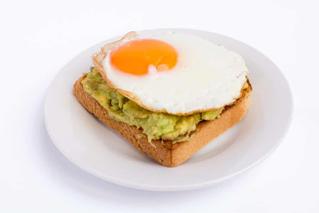 low carb avocado toast breakfast