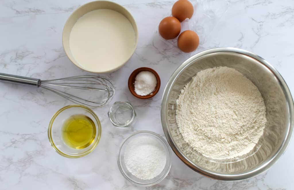 ingredients for pancakes without baking powder