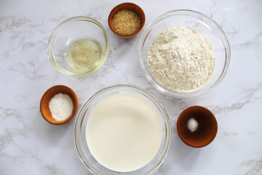 ingredients for eggless pancakes